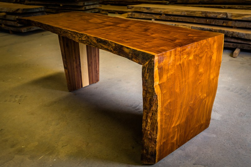 Tiger wood waterfall table